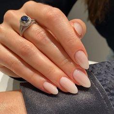 Natural Almond Nails, White Almond Nails, Natural Acrylic Nails, Almond Acrylic Nails, White Nails, White Manicure, Fall Almond Nails, Short Almond Nails, Almond Nails Designs