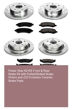 KT010841 OE Series Rotors + Ceramic Pads Max Brakes Front Premium Brake Kit Fits: 2005 05 2006 06 Dodge Caravan w//Rear Drum Brakes