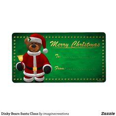 Dinky Bears Santa Claus Label