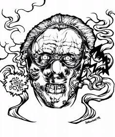 """例の教授 """" Silence """" サイズ:キャンバスF10(530x445mm) 画材:コピック #spelunkas #spelunkass #drawing #graphic #art  #arte #illust #illustration #手描き #blackline #copic #canvas #silence #羊たちの沈黙 #TheSilenceoftheLambs #ハンニバルレクター #アンソニーホプキンス #AnthonyHopkins #HannibalLecter #movie"""