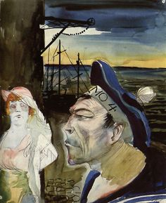 1922 HARBOR, Otto Dix (German, 1891~1969)