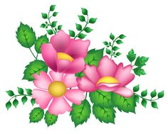 Pink Flowers Decoration PNG Image