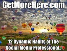 Millennium 7 Publishing Co.: 12 Dynamic Habits of The Social Media Professional... Free Market, Balloons, Balloon, Hot Air Balloons