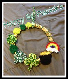 Crochet St. Patrick's day wreath