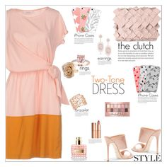 """""""Two-Tone Dress"""" by atelier-briella ❤ liked on Polyvore featuring jucca, Giuseppe Zanotti, Clemsa, Hop Skip & Flutter, INC International Concepts, Charlotte Tilbury, Valentino, Anne Sisteron, Maybelline and Music Notes"""