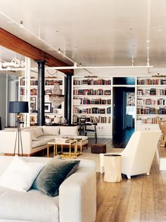 NYC Loft Apartment with Library