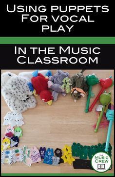 Find some fun ways to use puppets to help student do vocal play and exploration in your music classroom! Music Education Activities, Music Classroom, Classroom Ideas, Music And Movement, Elementary Music, Teaching Music, Music Lessons, Early Childhood, Puppets