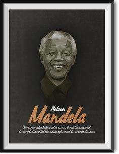 "Mandela ""Valley of death"" quote poster"