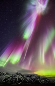 ~~Point of Origin | rainbow aurora borealis, Southern Iceland, March 17, 2015 | by Mashuto~~