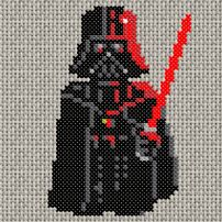 Darth Vader cross-stitch