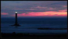 Cap de la Hague Light ~ a cape at the tip of the Cotentin peninsula in Normandy, France. Normandy France, Lighthouses, Sunrise, Celestial, Outdoor, Light House, Lighthouse, Landscape, Light Fixtures