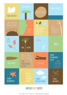 Naturschatzkiste . gute Idee für Sammelliste Kindergeburtstag . Spiele-Trickkiste Downloads | Meine Svenja