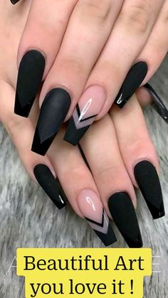 Acrylic Nail Designs Coffin, Blue Acrylic Nails, Black Nail Designs, Summer Acrylic Nails, Marble Nails, Summer Nails, Black Coffin Nails, Pink Coffin, Black Acrylics