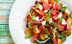 Sommerlicher Tomaten-Melonen-Salat