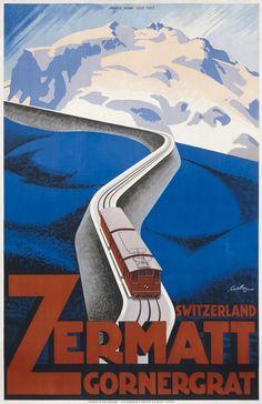 Zermatt Gornergrat by Coulon, Eric de | Vintage Posters at International Poster Gallery