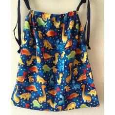 $18 Blue Drawstring Library Book Bag by LindabearsHandmade on Handmade Australia