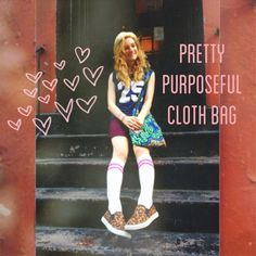Maria with her #PrettyPurposefulAfricaCollection cloth bag in NYC!
