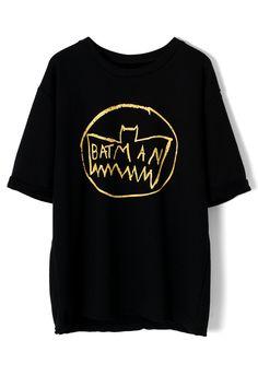Batman Print Oversize T-shirt