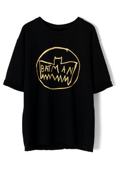 Batman Print Oversize T-shirt - New Arrivals - Retro, Indie and Unique Fashion