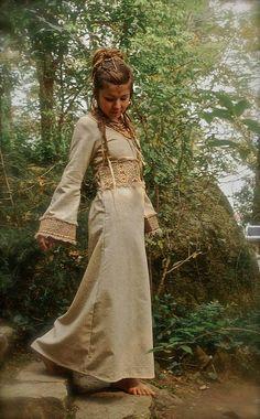 Priestess Long Dress Native American made of by AnuttaraCrafts
