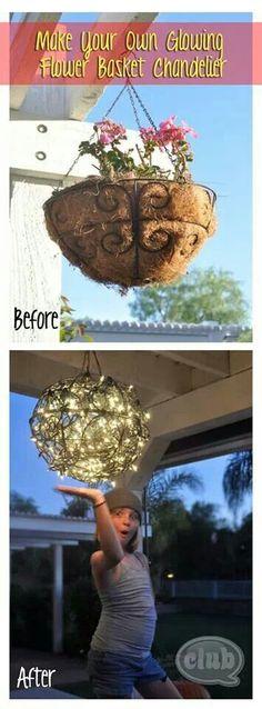 Hanging Flower basket chandelier