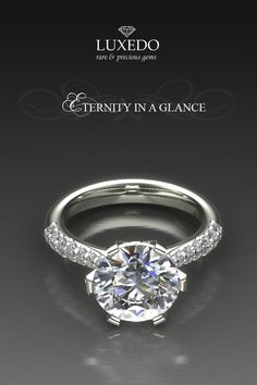Brilliant cut diamond engagement ring ★ Eternity in a Glance ★ Visit our on line shop at http://www.luxedogems.com/diamond/