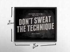 90s Hip Hop Art Song Lyric Art Don't Sweat the by briefandbright