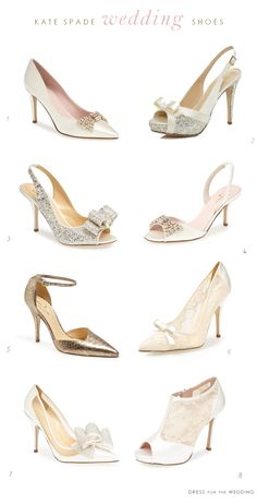 Dress for the Wedding's picks for kate spade new york Wedding Shoes #weddingshoes