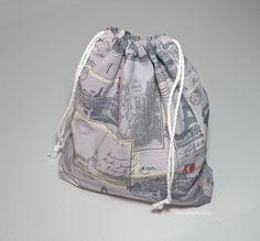 Threading My Way: Quick and Easy to make Drawstring Bag ~ Tutorial