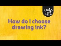 How I choose a drawing ink? In this week's show, we continue our inquiry into ink. We ask expert Deborah Basel from Pen World International how to select the right waterproof ink to use in a fountain pen so we can safely watercolor over the lines we draw in our sketchbooks without harming our pens — or our drawings.