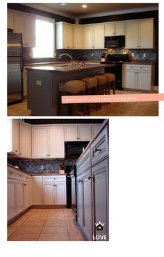abode love: a man's home is his wife's castle: kitchen cabinet redo