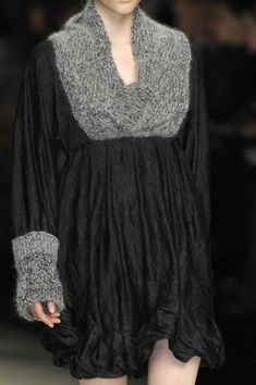 Design Inspiration, Milia M F/W '08   knits attached to woven