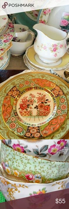 Mitch Match China Table Scape Settings for 4 Place settings for 4 people. Including dinner plate, appetizer plate, tea/coffee cup, stemware. Mix and match china which is pure awesomeness. You will receive random patterns and types. But each table Scape will have a color theme. Most pieces are vintage. various Other