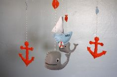 Adorable baby mobile with a nautical theme!