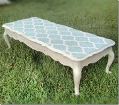 Duck Egg Stenciled Table @ Southern Spruce