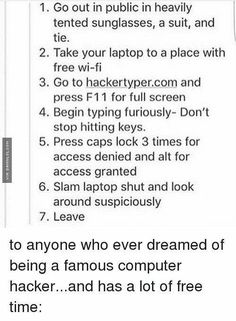 I need to do this Computer Pranks, Computer Hacker, Internet Hacker, Phone Pranks, Hacker Prank, Funny Lists, Funny Bucket List, Funny Websites, The Funny