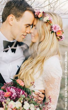 NewYorkDress Blog // Wedding Trend: Floral Crowns // Click through for more floral crown inspiration!