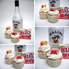 Jello Shot Cupcakes