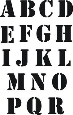 Eigenmarke Stencil Schablone  ABC 2tlg.