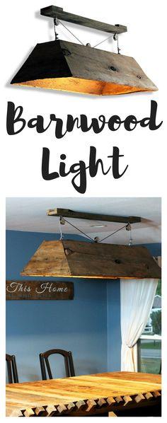 ... Light Fixture, Re Purposed Lighting, Recycled Wood Light, Wood Lamp,  Wood Light, Wooden Light, Dining Room Light, Pool Table Light, Wood Lamp,  ...