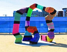 Create colorful street art in your town with these tips and a helpful step-by-step tutorial on how to yarn bomb from yarn bombing guru Jessie Hemmons.