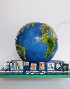 Celebrate with Cake! Airplane Birthday Cakes, Girly Birthday Cakes, Map Cake, Cake Art, Globe Cake, Earth Cake, Travel Cake, Cakes Plus, Funny Cake