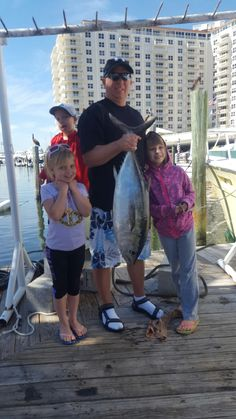 Nice tuna caught by this family on their #fishing trip out of #FtLauderdale. Let's go fishing! www.FishHeadquart... #familyfun #vacation