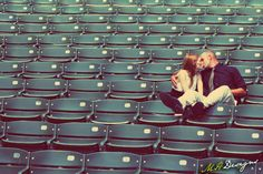 My bf <3 's baseball so I bet he'd wanna do an engagement picture like this! It's too cute!  :)