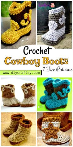 7 Free Crochet Cowboy Boots Patterns - DIY & Crafts