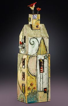 Lisa Muller handbuilt Earthenware clay work work
