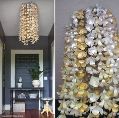 Paper Flower Entry Chandelier