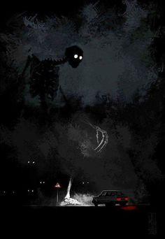 """""""Visual Necromancy"""": The Amazing Art By Boris Groh – Design You Trust Fantasy Kunst, Dark Fantasy Art, Arte Horror, Horror Art, Drawn Art, Arte Obscura, Art Anime, Creepy Art, Monster Art"""