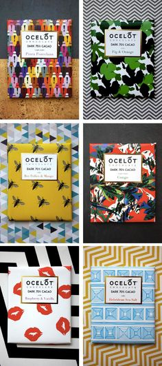 | Packaging Design | Use of pattern, each has a very distinctive look vs. something more cohesive