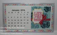 free calendar printable for 2014 from Stamping Imperfection 3d Paper Projects, Paper Crafts, Free Calendar, Calendar Printable, Card Making Techniques, Cardmaking, Stampin Up, Im Not Perfect, Printables